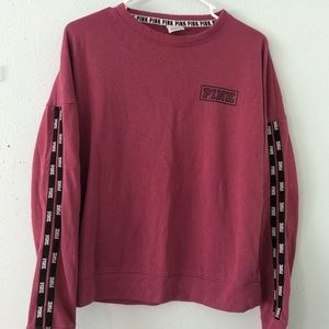 Over sized pink brand crew neck sweater